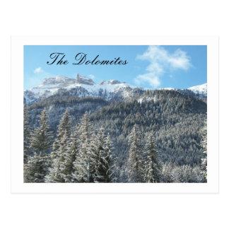 cartão das dolomites cartão postal