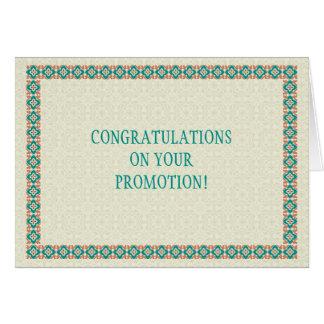 Cartão das felicitações da promoção das beiras &