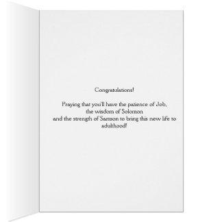 Cartão das felicitações do nascimento do bebê
