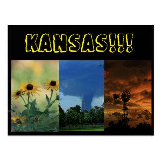 Cartão das fotos de Kansas Cartão Postal