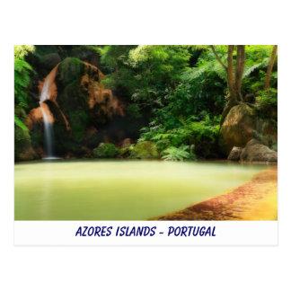 Cartão das ilhas de Açores Cartão Postal
