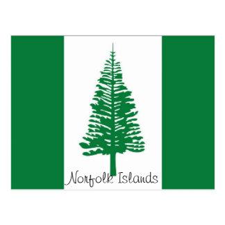 Cartão das ilhas Norfolk