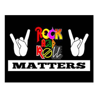 Cartão das matérias do rock and roll cartão postal
