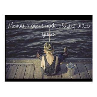 Cartão das memórias cartão postal