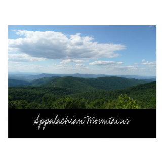Cartão das montanhas apalaches cartão postal
