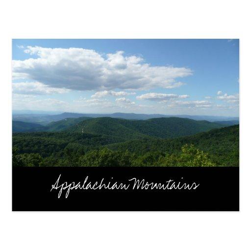 Cartão das montanhas apalaches cartao postal