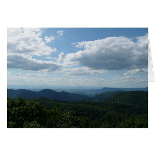 Cartão das montanhas apalaches II