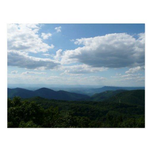 Cartão das montanhas apalaches II Cartões Postais