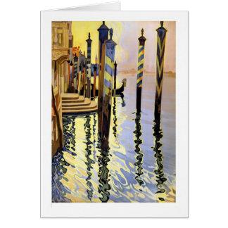 Cartão das reflexões de Veneza