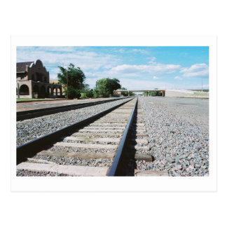 Cartão das trilhas de estrada de ferro