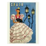 Cartão das viagens vintage da ESPANHA Cartoes Postais