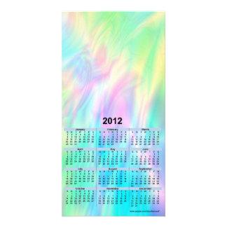 Cartão de 2012 calendários - pastel cartões com fotos