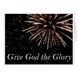 Cartão dê a deus a glória
