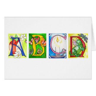 Cartão de ABCD