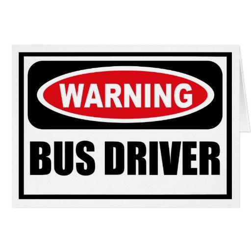 Cartão de advertência do CONDUTOR DE AUTOCARRO