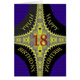 Cartão de aniversário abstrato para umas pessoas