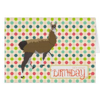 Cartão de aniversário afortunado do lama