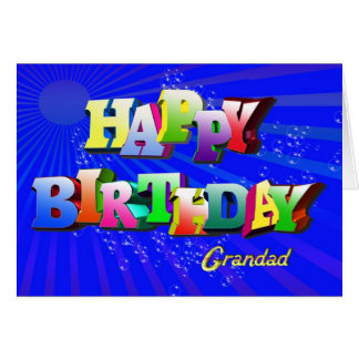 Cartão de aniversário borbulhante para o grandad