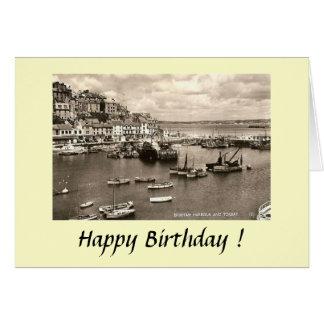 Cartão de aniversário - Brixham, Devon