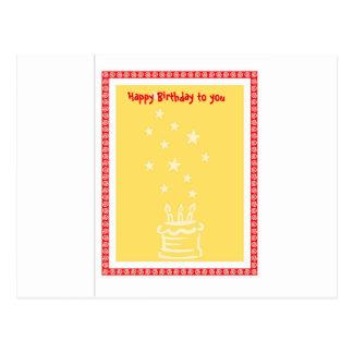 Cartão de aniversário cartão postal
