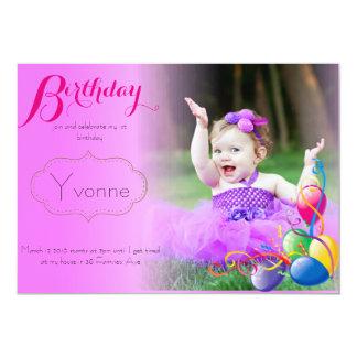 Cartão de aniversário convite 12.7 x 17.78cm