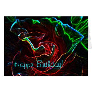 Cartão de aniversário cor-de-rosa do abstrato