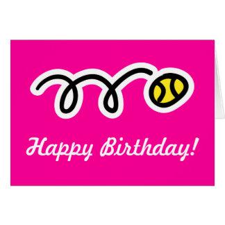 Cartão de aniversário cor-de-rosa para jogadores