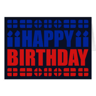 Cartão de aniversário da bandeira de Haiti