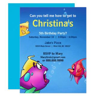 Cartão de aniversário da bolha convite 10.79 x 13.97cm