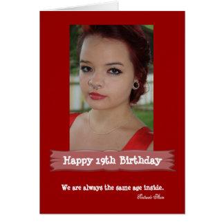 Cartão de aniversário da foto da idade cartão comemorativo
