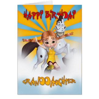 Cartão de aniversário da neta - estoque longo da