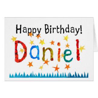 """Cartão de aniversário de """"Daniel"""""""