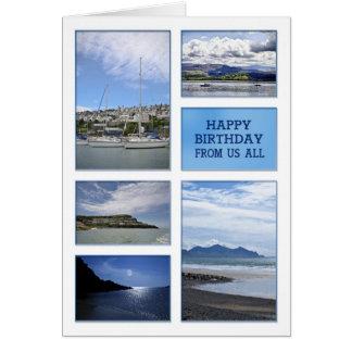 Cartão de aniversário de nós todo dos Seascapes