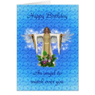 Cartão de aniversário do anjo-da-guarda