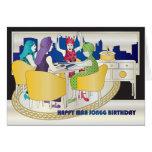 Cartão de aniversário do Mah Jongg New York