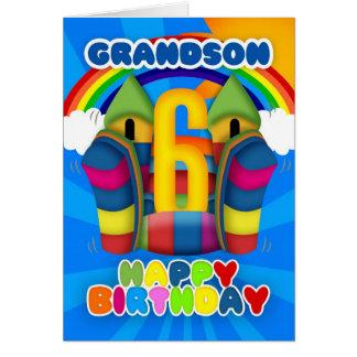 Cartão de aniversário do neto 6o com castelo