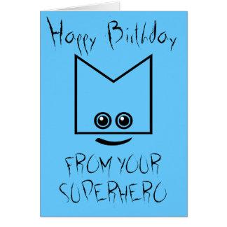 Cartão de aniversário do super-herói