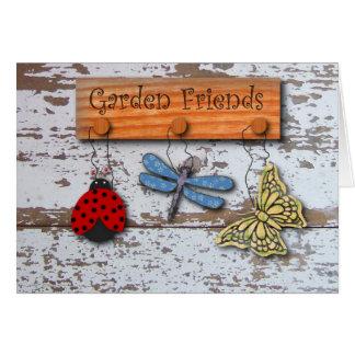 Cartão de aniversário dos amigos do jardim