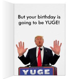Cartão de aniversário engraçado de Donald Trump