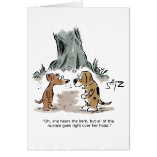 Cartão de aniversário engraçado do cão de Crowden
