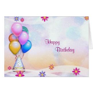 Cartão de aniversário festivo