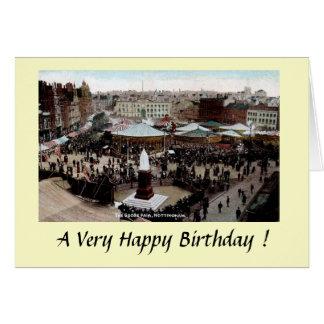 Cartão de aniversário - ganso de Nottingham justo