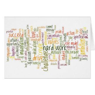 Cartão de aniversário inspirador das palavras #2