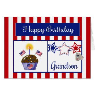 Cartão de aniversário militar do neto