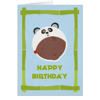 Cartão de aniversário multicultural