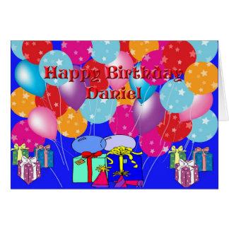 Cartão de aniversário para Daniel