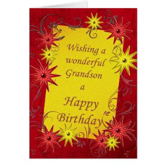 Cartão de aniversário para um neto