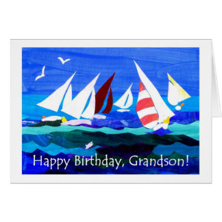 Cartão de aniversário para um neto - navigação