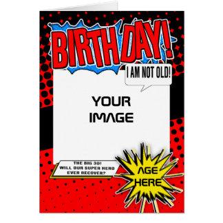 Cartão de aniversário - paródia cómica do