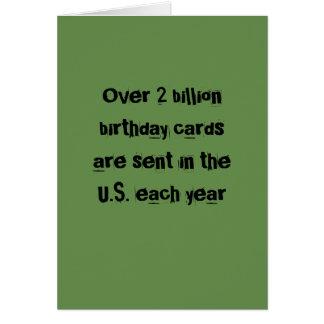 Cartão de aniversário - sarcàstica